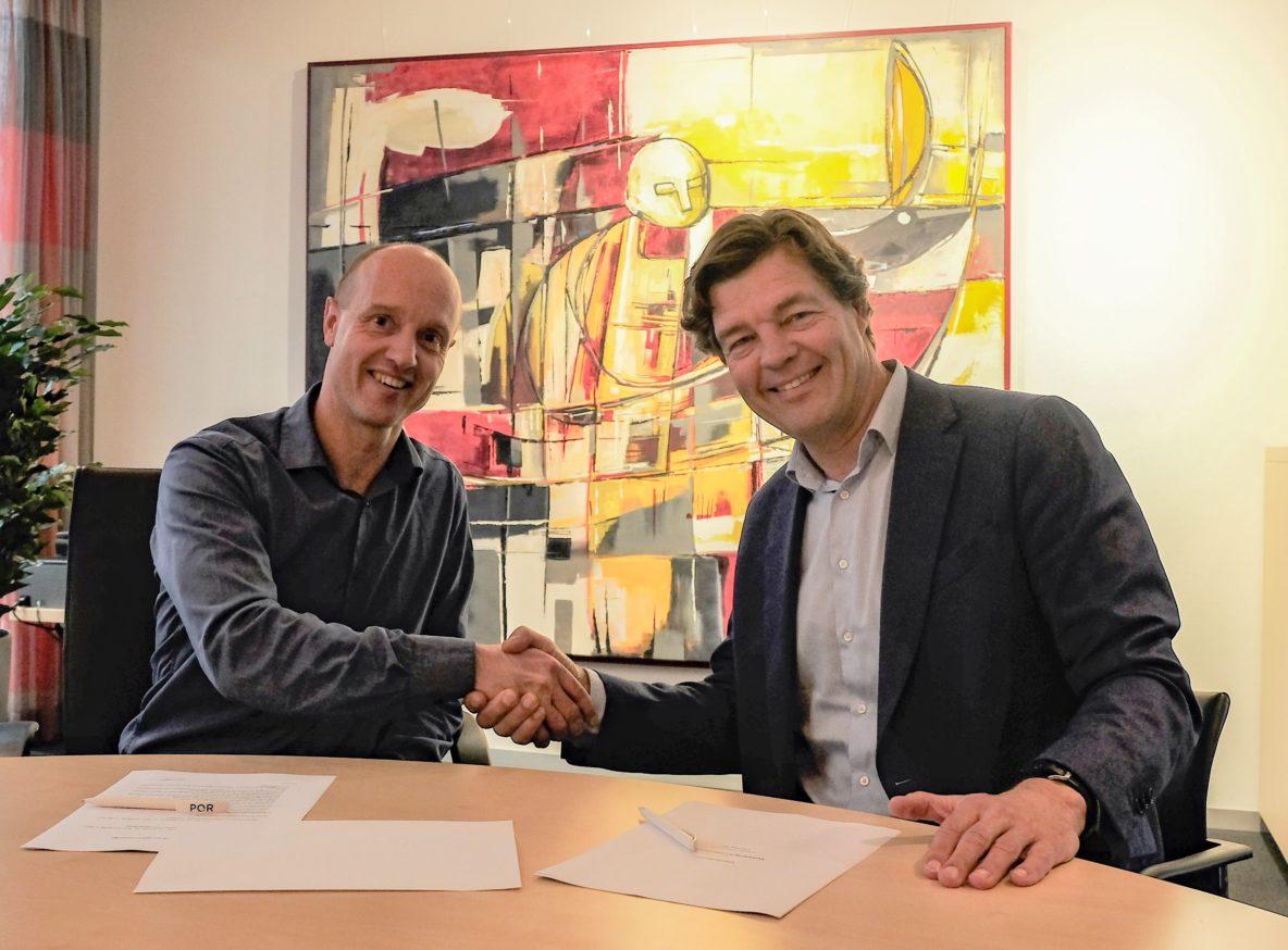 Sjeke Berends (Gemeente Boxmeer) en Erik Wiechers (PQR)
